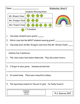 March Morning Work Third Grade Common Core Standards