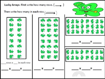 Daily Multiplication Packets for March Week 1 St.Patrick's Theme