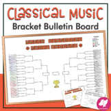 March Music Classical Music Bracket Bulletin Board - 8 FEET LONG - EDITABLE