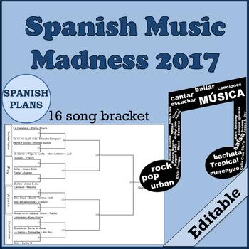 March Music Madness 2017 Spanish Bracket