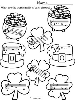 March Music Note Reading Fun