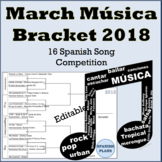 March Music Spanish Bracket Música de Marzo 2018