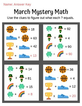 March Mystery Math