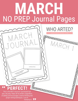 March NO PREP Journal Pages (Early Childhood)