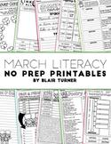 March NO PREP Literacy Printables