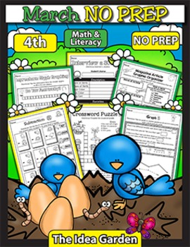 March NO PREP - Math & Literacy (Fourth)