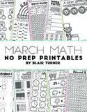 March NO PREP Math Printables