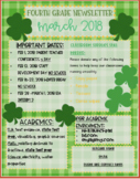 March Newsletter Editable