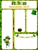 March Newsletter Editable St. Patrick's Day