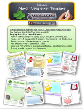 March Newsletter Editable Template