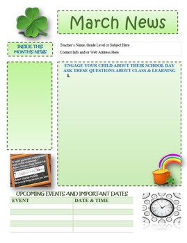 march newsletter template