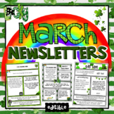 March Newsletter Template ~ Editable