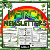 March Newsletter Teacher Templates