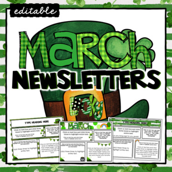 March Newsletter Template ~ Editable by TxTeach22 | TpT