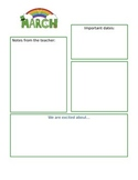 March Newsletter Template : editable