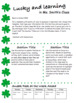 March Newsletter--great for St. Patrick's Day! 3 Designs--all Editable!