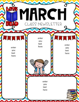 March Newsletters - freebie