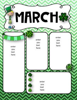 March Newsletters - freebie