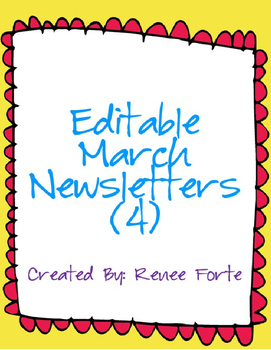 March Newsletters