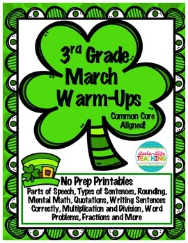 March No Prep Packet- (Third Grade)