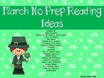 March No Prep Reading