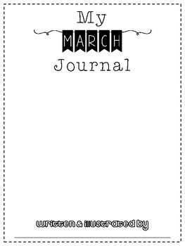 March No Prep Writing Journal for Elementary Writers