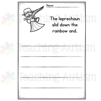 March No Prep Writing Prompt Worksheets