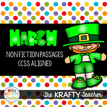 March Non-Fiction Passages, 2nd, 3rd, Dr. Seuss, Rainbows, St. Patrick's Day