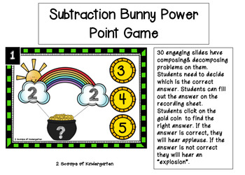 March Number Bonds Power Point Game(Composing & Decomposing within 10)