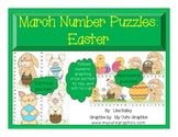 March Number Puzzles:  Easter Themed