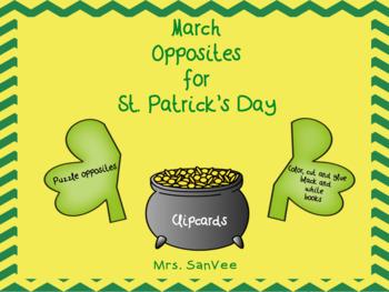 March Opposites for St. Patricks Day