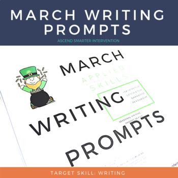 March Paragraph Writing Graphic Organization Strategies