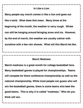March Paragraphs of the Week