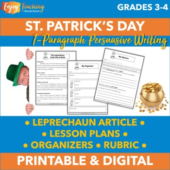 St. Patrick's Day Persuasive Writing Activity - Give Me the Gold!