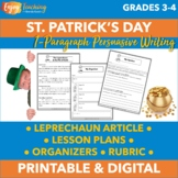 St. Patrick's Day Writing Activity - March Persuasive Paragraph (PDF & Google)