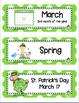 March Picture Word Cards K-3
