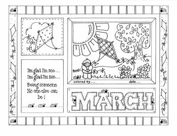 March Picture (with Saying)