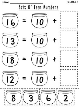 March Place Value Cut & Paste Worksheets