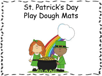 March Play Doh Mats {FREEBIE}