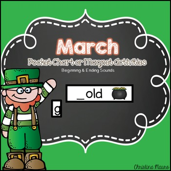 March Pocket Chart or Magnetic Letter Activities
