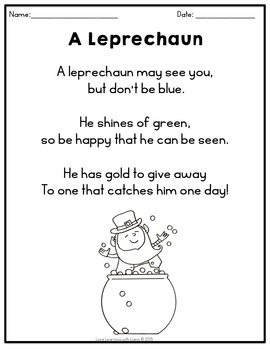 March Poetry St. Patricks Day, Spiders, Colors Poems, Writing, Sentence Strips