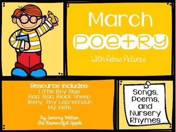 March Poetry with Rebus Pictures