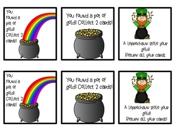 March Pot of Gold Nonsense Word Fluency Game