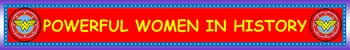 March Powerful Women's History Month Bulletin Board Banner 3