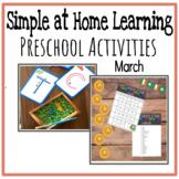 March Preschool Activities Distance Learning