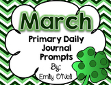March Primary Daily Journal Prompts