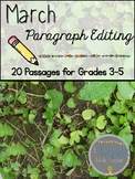 March Print & Go Paragraph Editing: 20 Passages for Grades 3-5