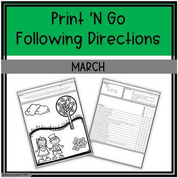 March Print 'N Go Following Directions Packet