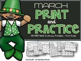 March Print & Practice Math & Literacy