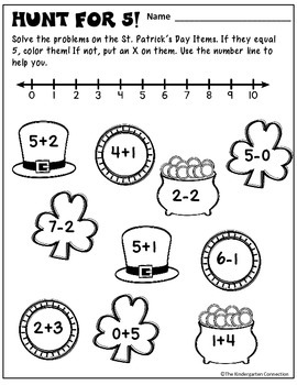 March Print-That's It! Kindergarten Math and Literacy Printables SAMPLER
